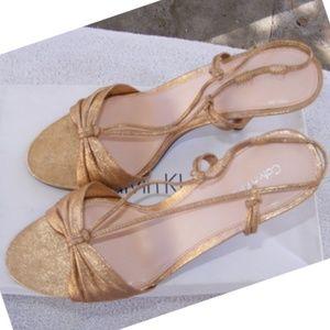 Calvin Klein Shimmering Gold Slingback Stiletto